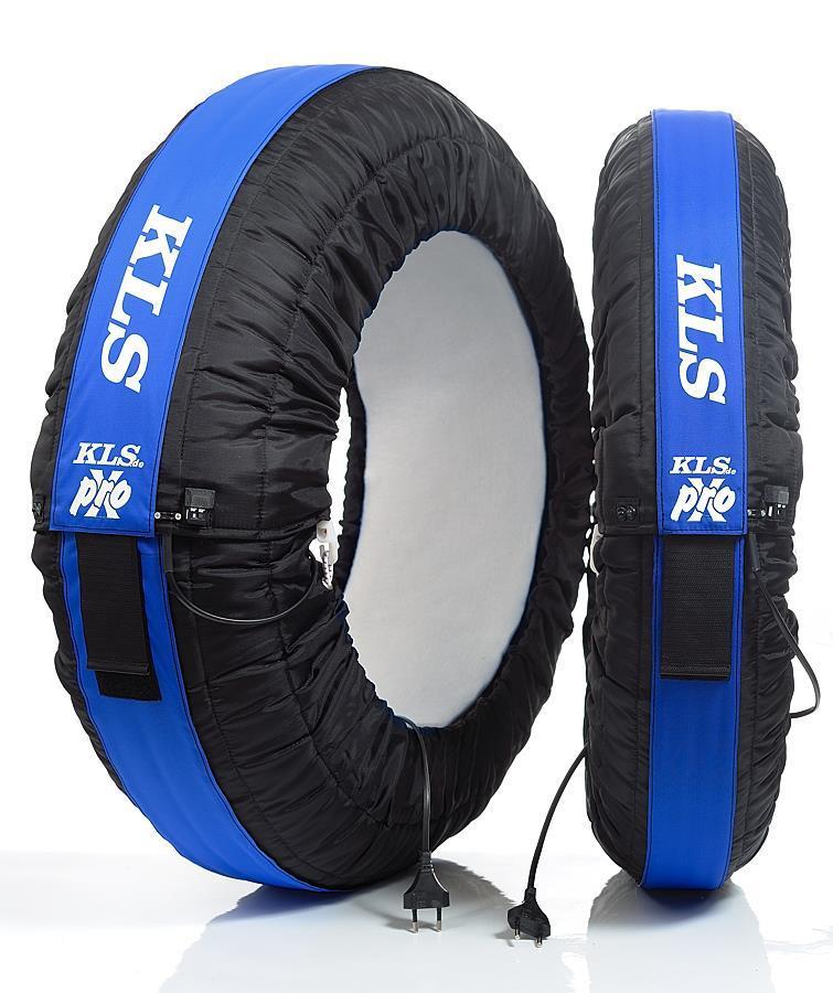 KLS-Dekkvarmere Prox Sort/blå stripe