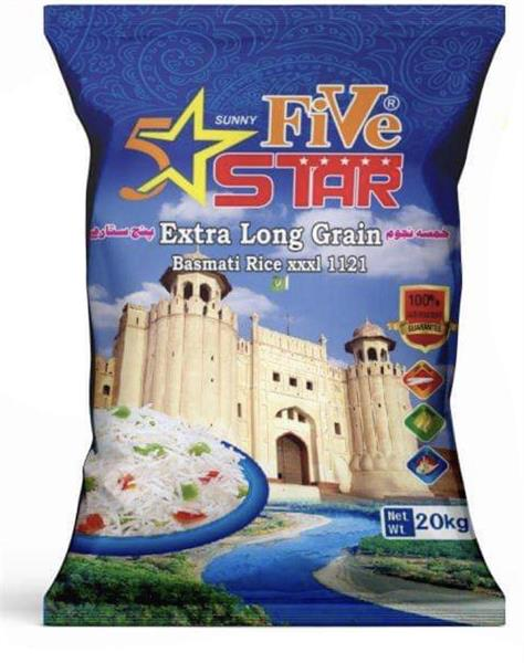 5 Star Extra Long Grain Basmati Ris sun. 1x20kg