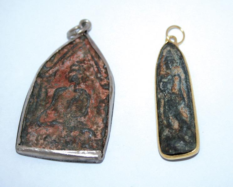 Halsband - Amulett i sten mix (3 pack)