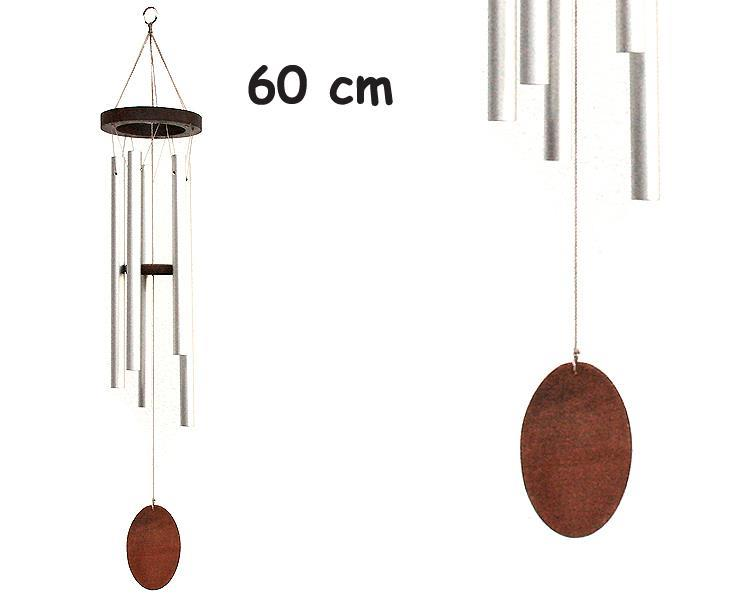 Vindspel - Oval trä 60cm (6 pack)
