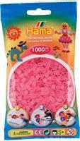 Hama perler Midi, Transparent Rosa 207-72 1000stk