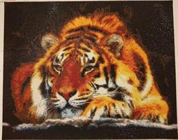 Diamond Painting, Hvilende Tiger 50*40cm FPR