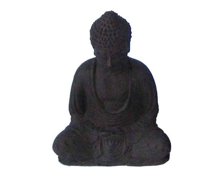 Buddha - Svart 15cm (6 pack)