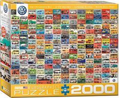 Puslespill VW Groovy Bus Folkevogn, 2000 brikker