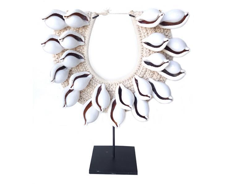 Papua - Halsband dubbel vit (2 pack)