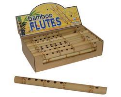 Flöjt - Display med 24st bambuflöjtar