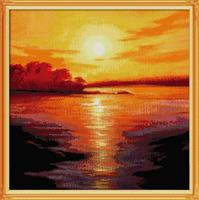 Diamond Painting, Solnedgang 66,3*66,3 FPR