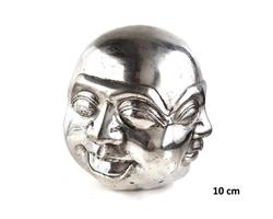 Brons - Silver Buddha m. fyra ansikten (2 pack)