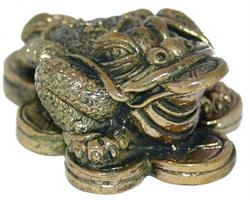 Brons - Miniatyr trebent Money Toad (2 pack)