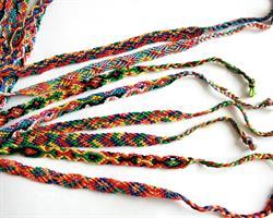 Makramé armband - Rainbow mix (50 pack)