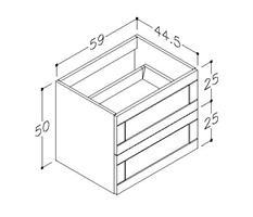 Underskåp bänk Adagio 60 cm