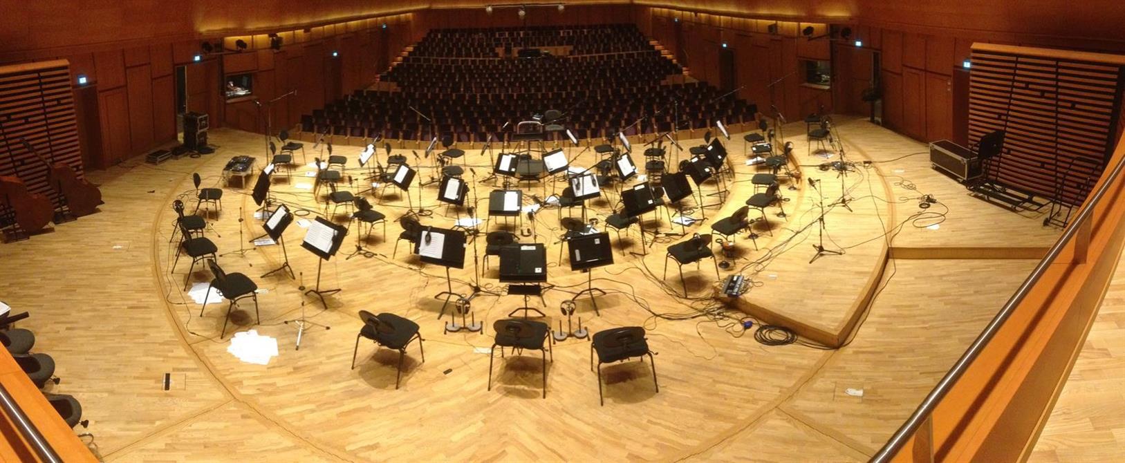 Panorama av scenen i Stavanger konserthus