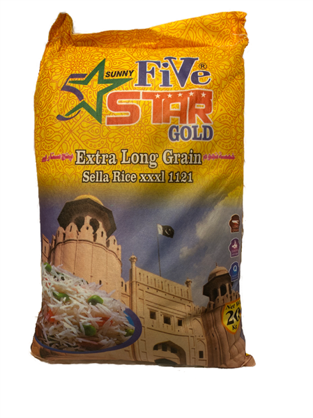 5 Star Gold Sela Basmati Rice 1x20kg