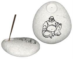 Rökelsehållare - Happy Buddha svart (12 pack)