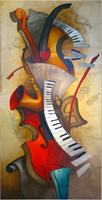 Diamond Painting, Musikkinstrumenter 30*60cm (87278) FPR