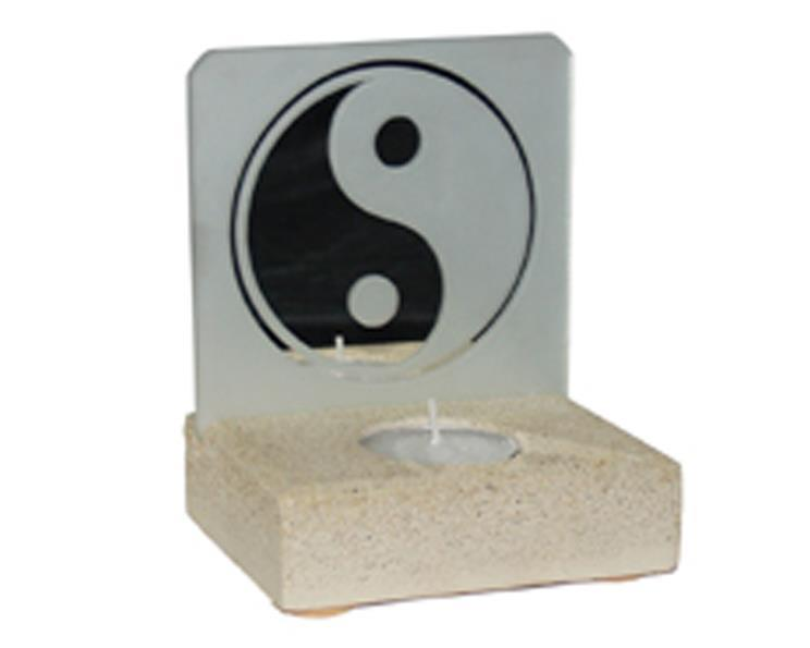 Teljushållare - Yin Yang spegel (6 pack)