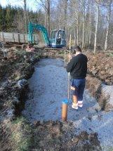 Utläggning och avvägning av dräneringslager till markbädd
