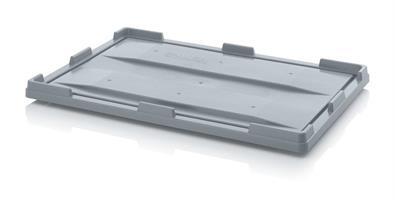 Lokk for Pallecontainer 1200x800mm grå