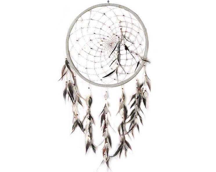 Drömfångare - Vit halvädelstenar 50cm (4 pack)