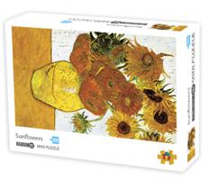 Mini Puzzle, Sunflowers 42*29,7cm 1000 brikker