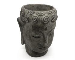 Buddha - Blomkruka grå 22cm (4 pack)
