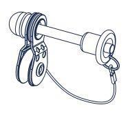 QUICK-LOCK PIN AND PULLEY (PJ-A-10804)