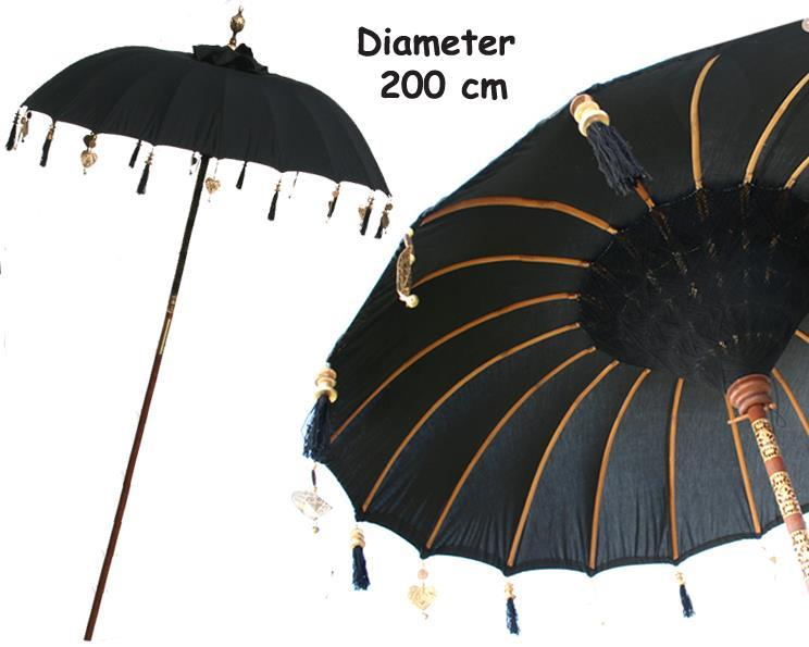 Parasoll - Bali svart L (2 pack)