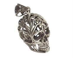 Halsband - Försilvrad brons döskalle (3 pack)