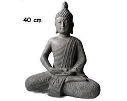 Buddha - Flower grå 40cm (2 pack)