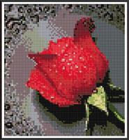 Diamond Painting, Rose rød 26*28cm FPK