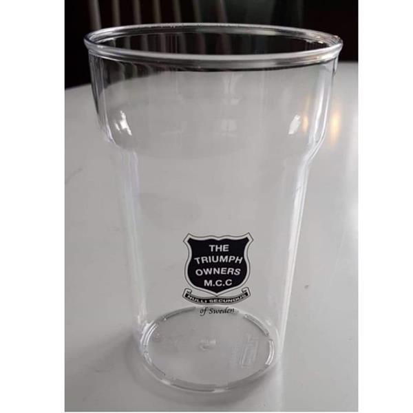Ölglas pint i plast