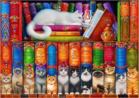 Puslespill Cat Bookshelf, 150 brikker