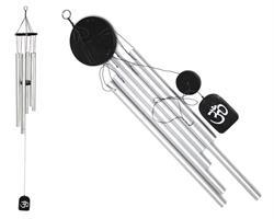 Vindspel - OM svart & silver 60cm (4 pack)