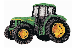Ryeteppe, Traktor, 52*38cm