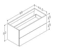 Underskåp bänk Gama 100 cm