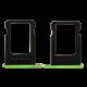 iPhone 5c Sim-Kort Skuff - Grønn