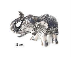 Brons - Silver elefant 11cm (6 pack)
