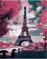 Mal eller nummer, Eiffeltårnet 1 40*50cm (YC2328)