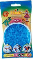 Hama perler Midi, Transparent Aqua 207-73 1000stk