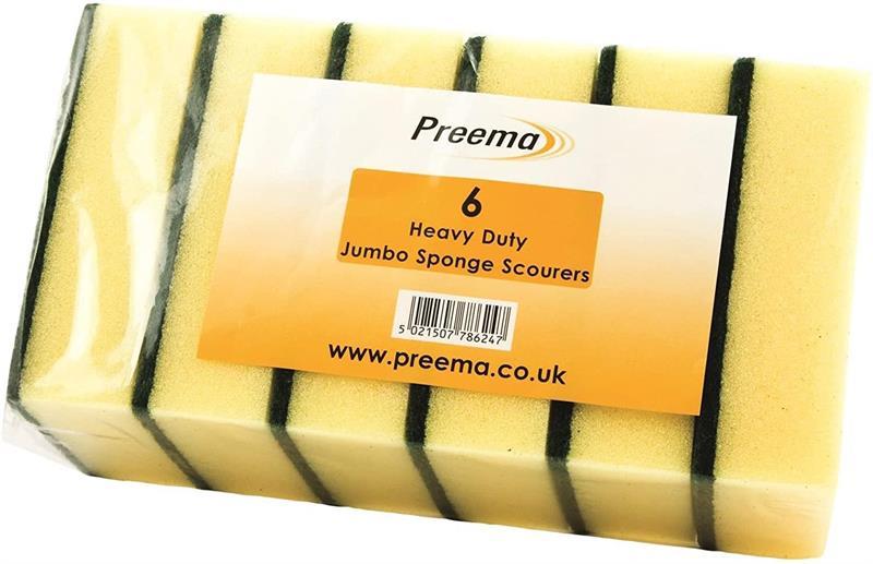 Preema Heavy Duty Jumbo Scourers 6pk