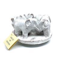 Ljusstake - Keramik elefanter vit (12 pack)