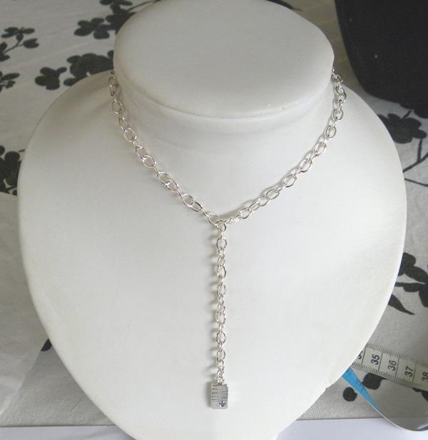 Handgjord silverkedja