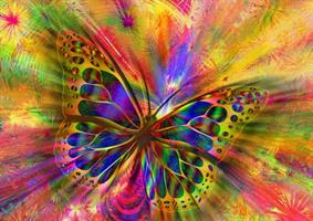 Puslespill Colorful Butterfly, 1500 brikker