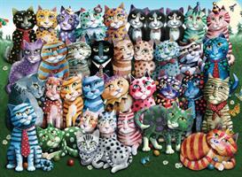 Puslespill Cat Family Reunion, 1000 brikker