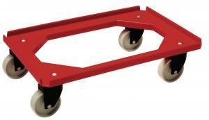 Tralle Minimove rustfri 600x400mm 2f+2sv Ø100 rød