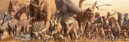 Puslespill Panorama Dinosaurer, 1000 brikker