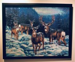 Diamond Painting, Hjort i snø 40*50cm FPR