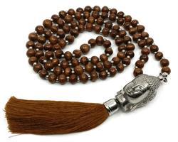 Mala - Buddha 108 pärlor brun (4 pack)
