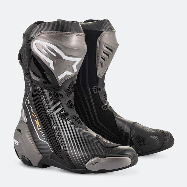 Alpinestars Støvler Supertech R sort/grå/gull 41