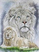 Diamond Painting, Løver 24,5*34,5cm (A292) FPR